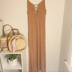 Forever 21 stretch fabric dusty rose Maxi dress